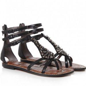 Sam Edelman Georgina Spiked Gladiator Sandals 7.5